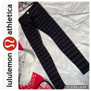LuLuLemon Black & Gray Wunder Under Sz 6
